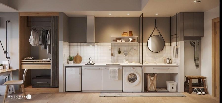 tích hợp phòng giặt và bếp