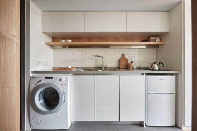 tích hợp phòng giặt và bếp tiện lợi
