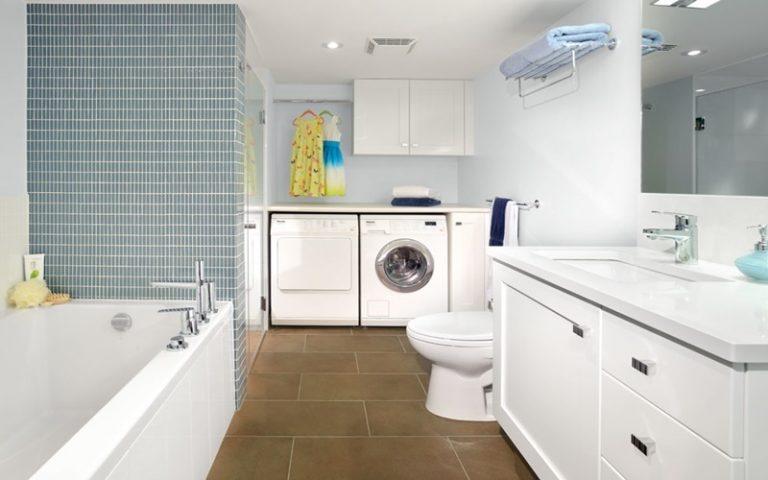 máy giặt trong phòng tắm đẹp