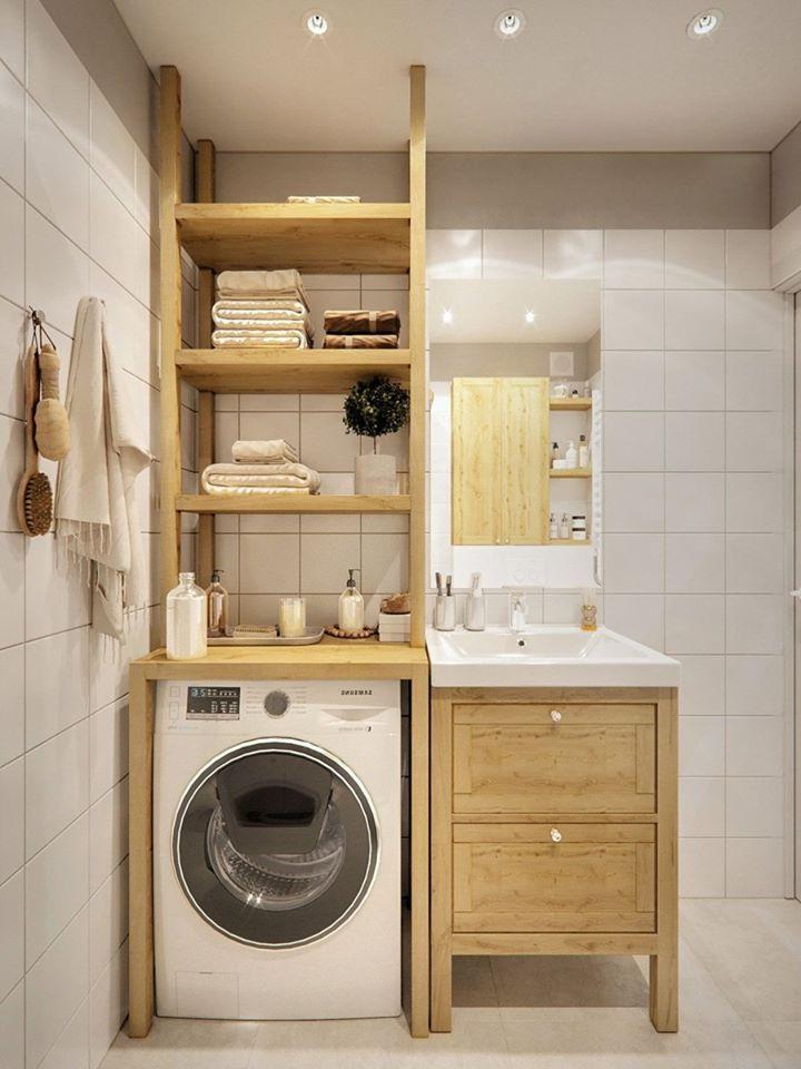 tủ giặt bằng gỗ đẹp