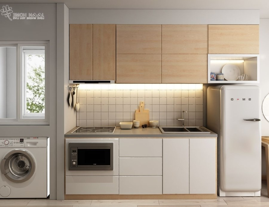 tích hợp phòng giặt và bếp đẹp