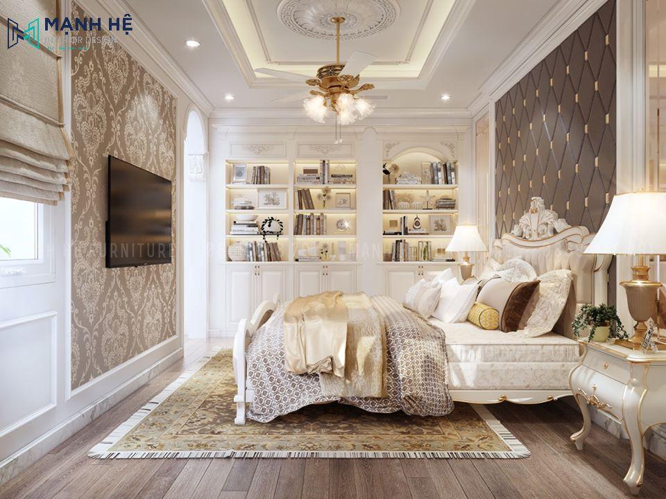 kệ tủ sách trang trí phòng ngủ