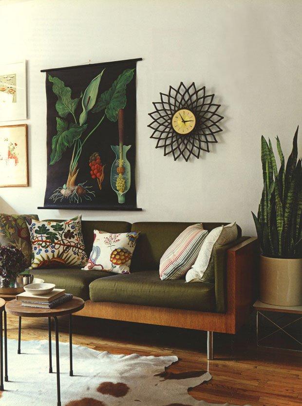 bộ bàn ghế sofa màu xanh
