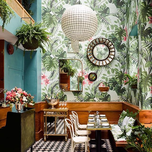 quán cafe phong cách nhiệt đới