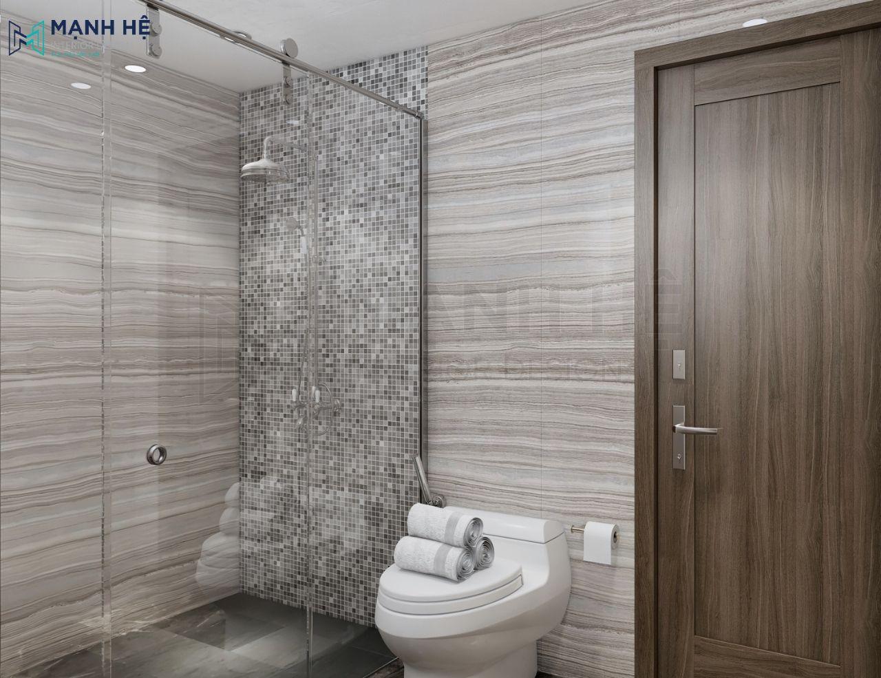 Thiết kế phòng tắm đứng rộng rãi