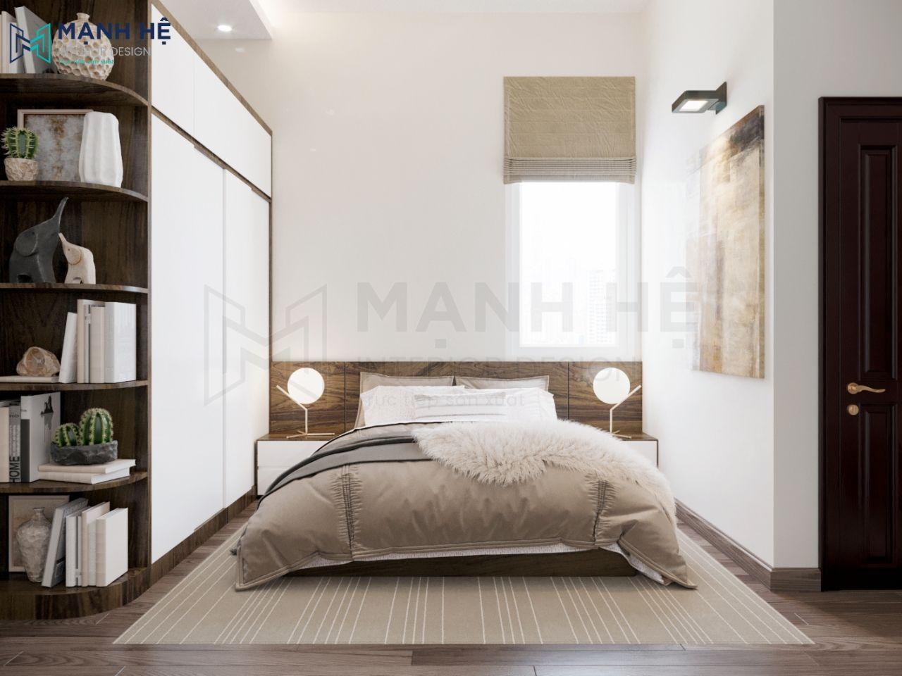 Thiết kế nội thất phòng ngủ gỗ tự nhiên