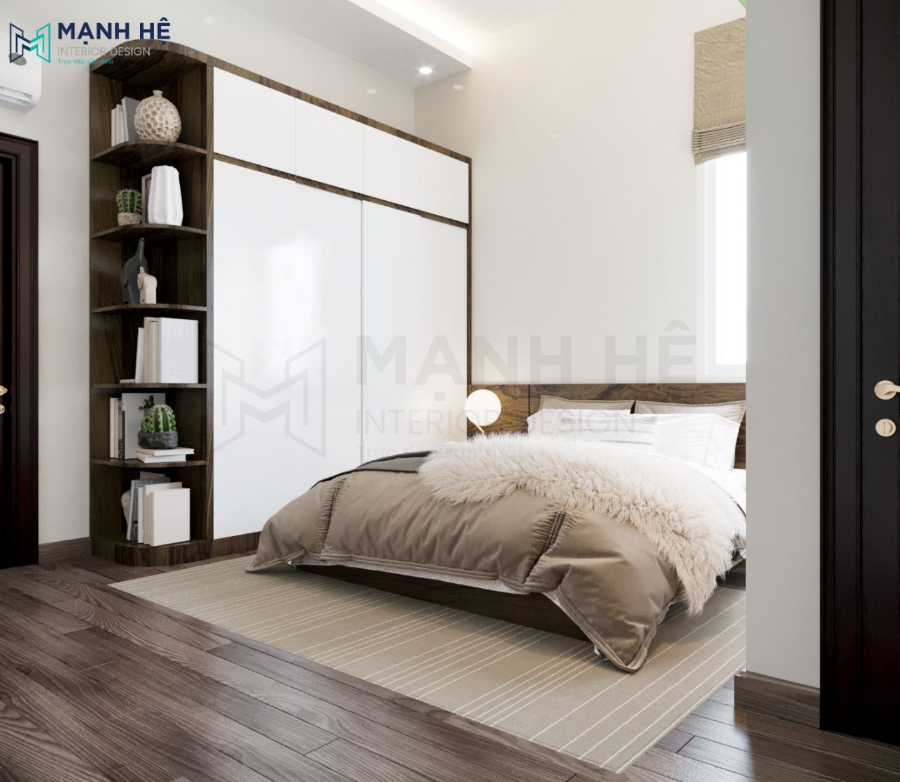 Tab đầu giường bằng gỗ