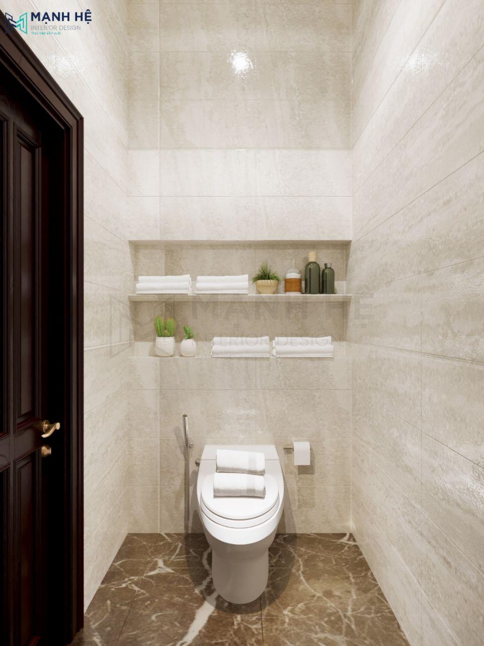 Kệ treo tường phòng tắm đơn giản