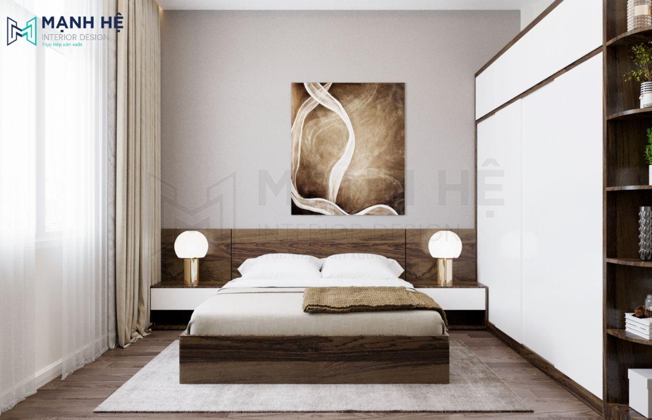 Giấy dán tường màu nâu xám thư giãn