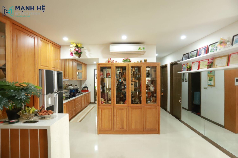 Kệ tủ rượu trang trí phòng khách bếp
