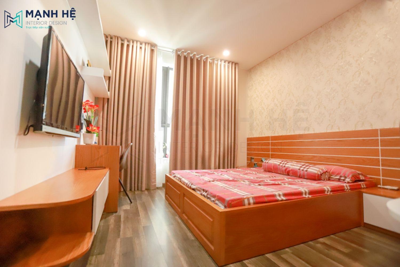 Thi công đầu giường ngủ bằng gỗ có chiều cao chuẩn