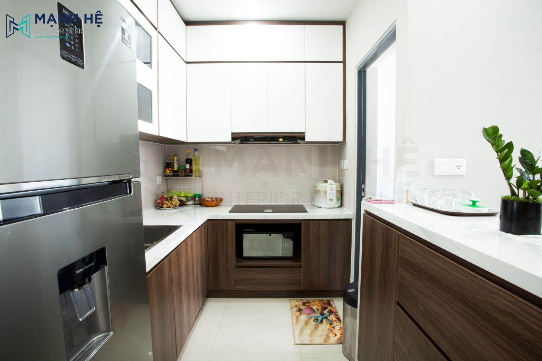 tủ bếp có bàn đảo bếp