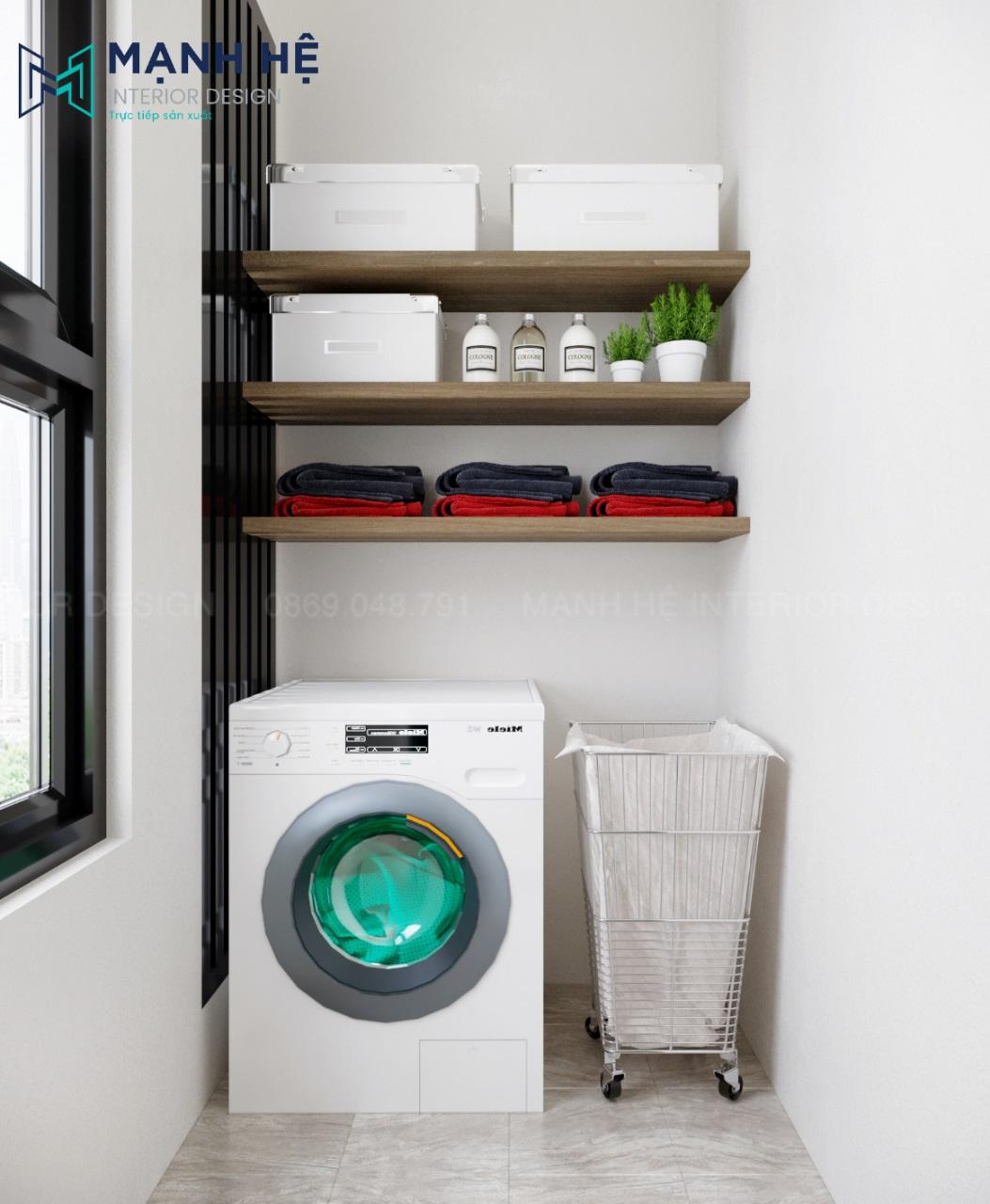 Thiết kế phòng giặt đồ đơn giản