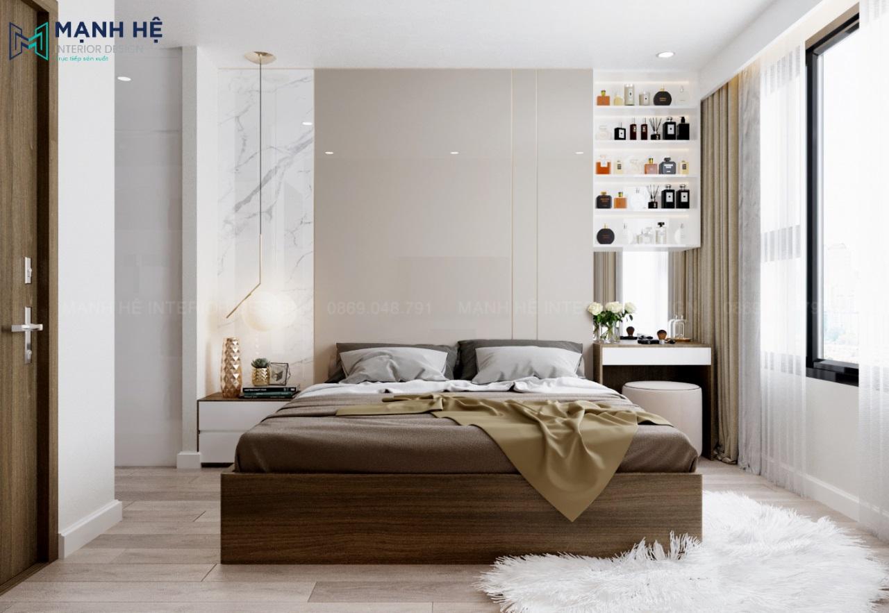 Vách ốp Acrylic đầu giường phòng ngủ master