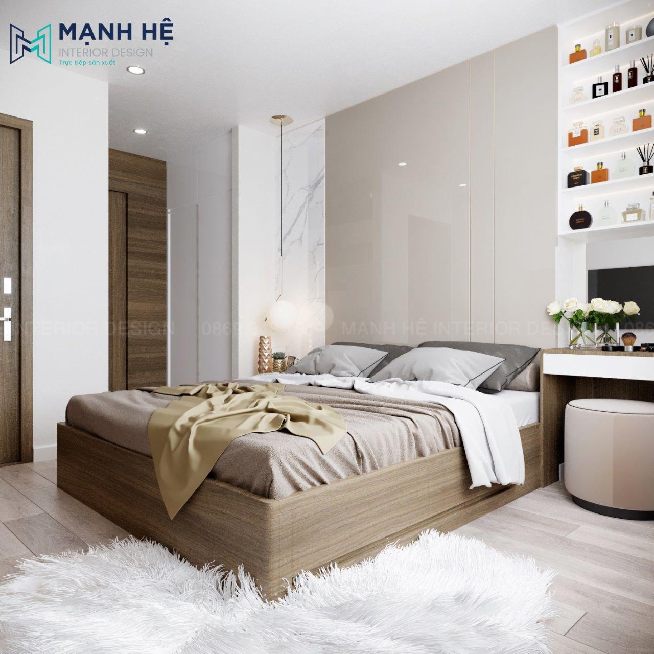 Thảm lông trang trí phòng ngủ