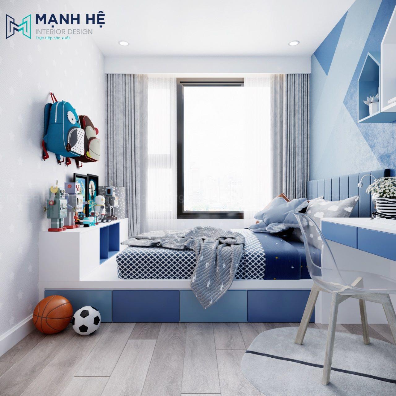 Giường ngủ dạng bục cho phòng ngủ bé