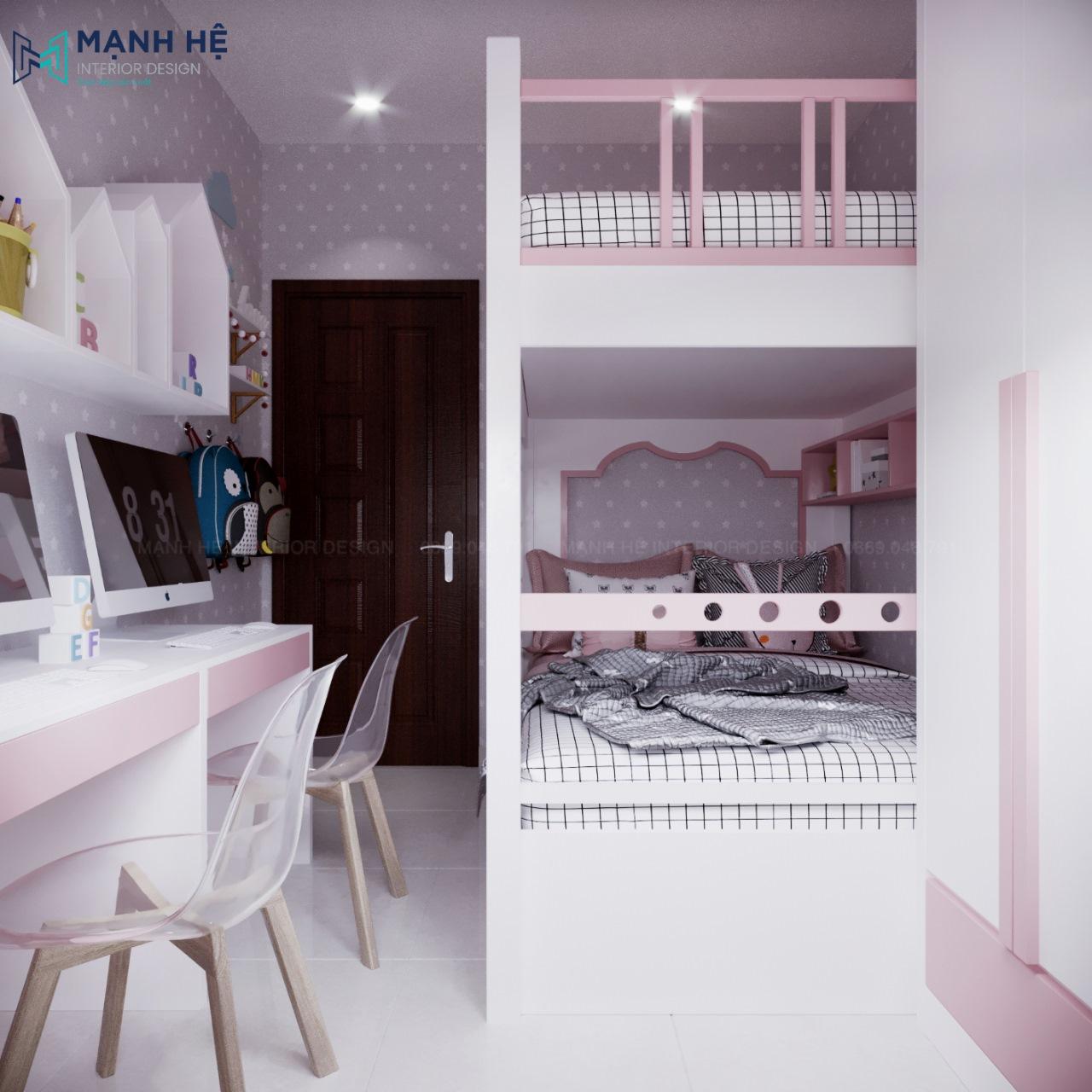giường ngủ 2 tầng cho bé