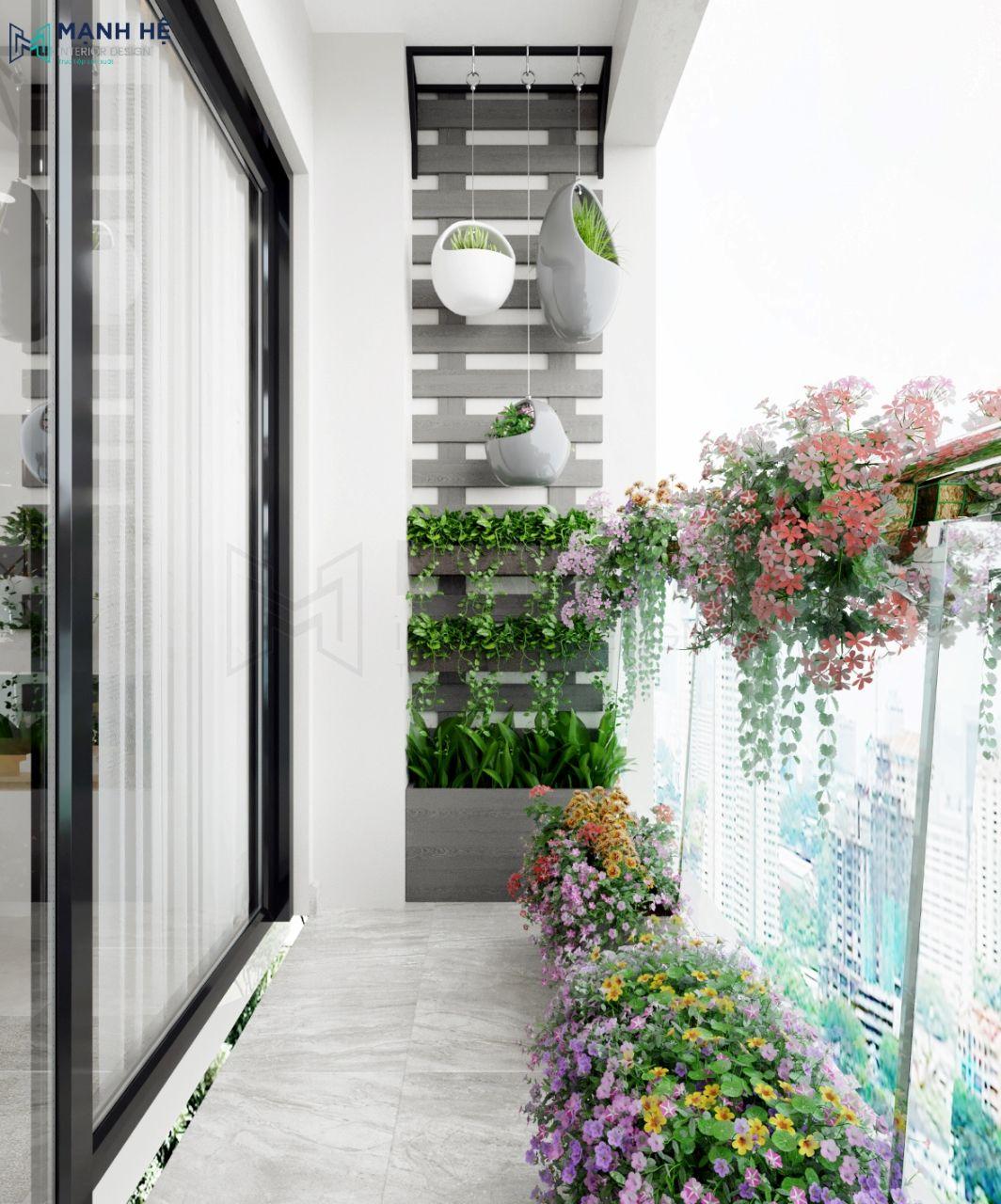 Thiết kế khu vườn nhỏ cho ban công mát mẻ
