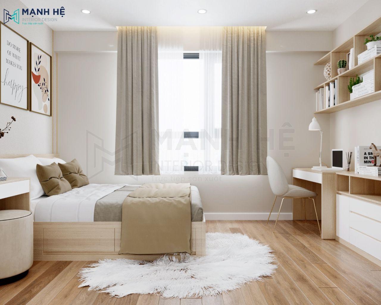 Bố trí cửa sổ lớn cho phòng ngủ bé
