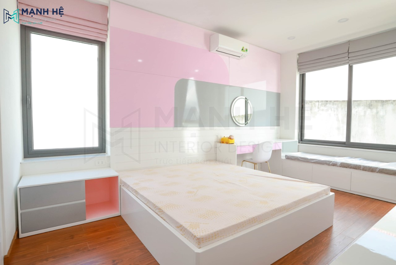 Thi công hoàn thiện phòng ngủ con gái