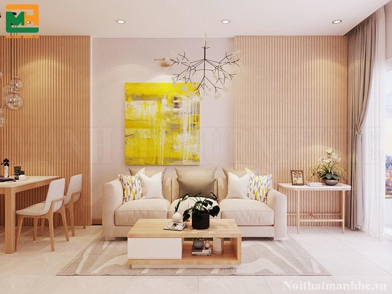thiết kế nội thất phòng khách liên thông phòng bếp