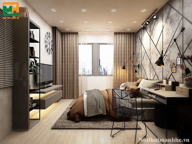 mẫu nội thất phòng ngủ 18m2