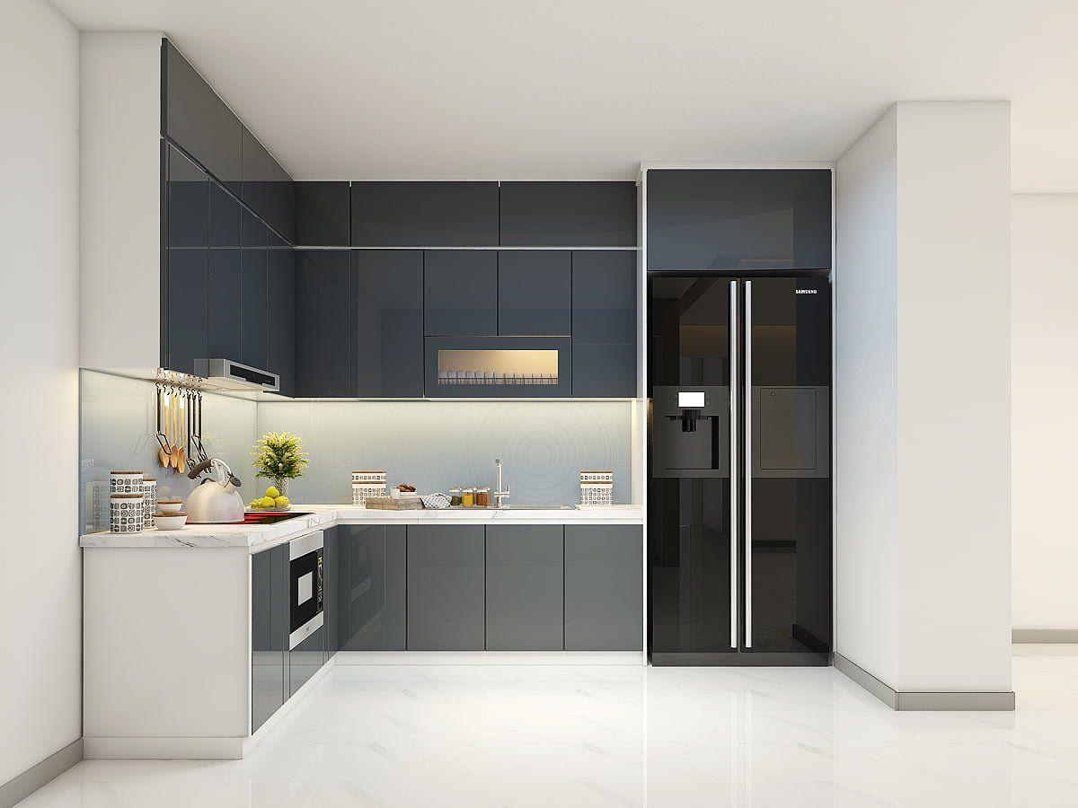 Mẫu & báo giá tủ bếp Acrylic TBA36