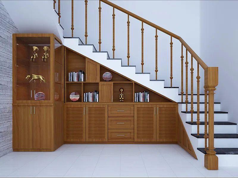 kệ tủ trang trí gầm cầu thang