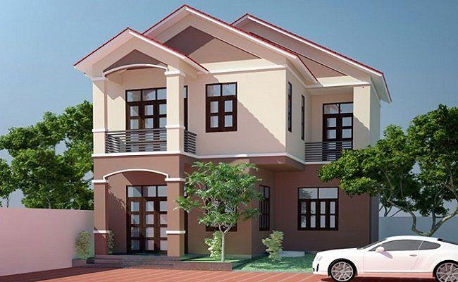 mẫu sơn nhà màu nâu đẹp