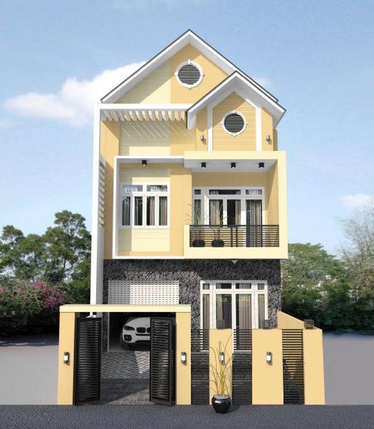 mẫu màu sơn nhà màu vàng đẹp