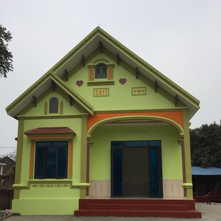 màu sơn nhà vàng chanh