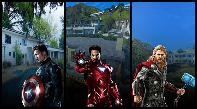 biệt thự cảu các siêu anh hùng