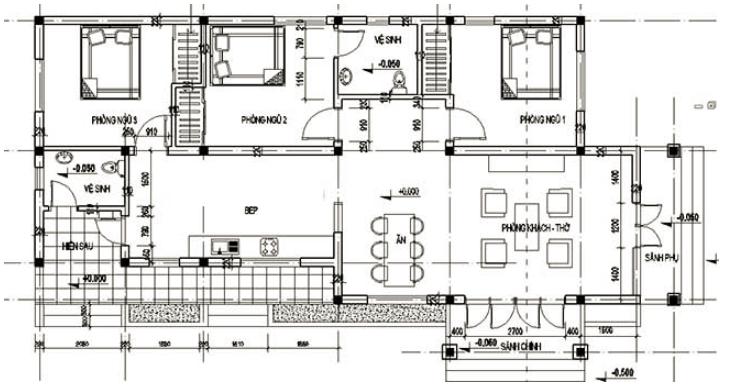bản vẽ mặt bằng của ngôi nhà