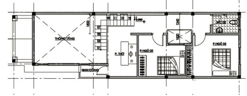 mặt bằng tầng 2