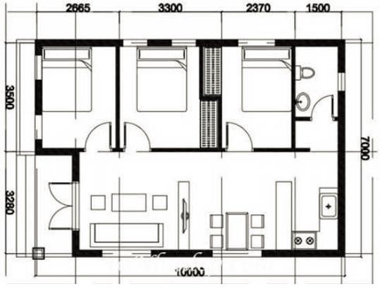 bản vẽ mặt bằng ngôi nhà