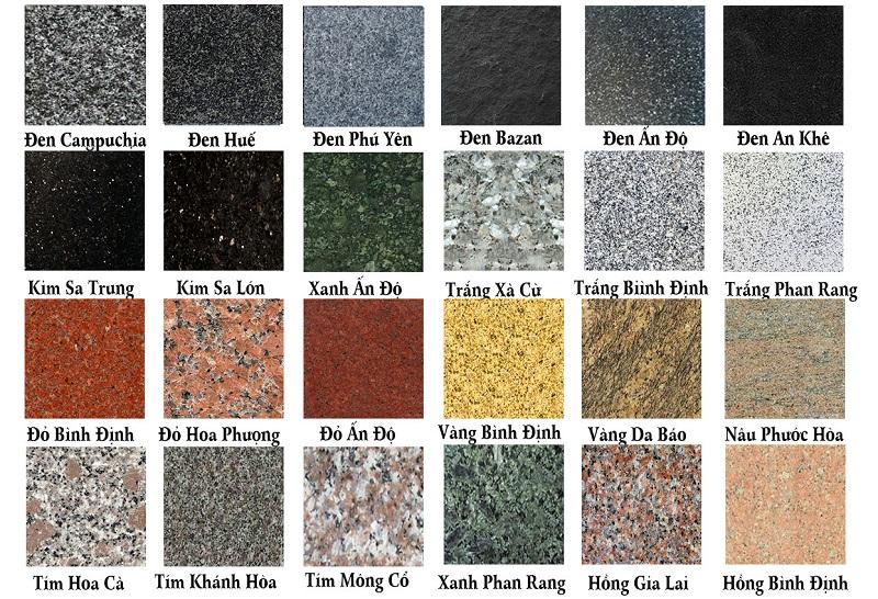 các mẫu đá granite