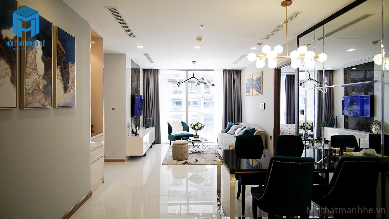 thiết kế thi công nội thất sang trọng