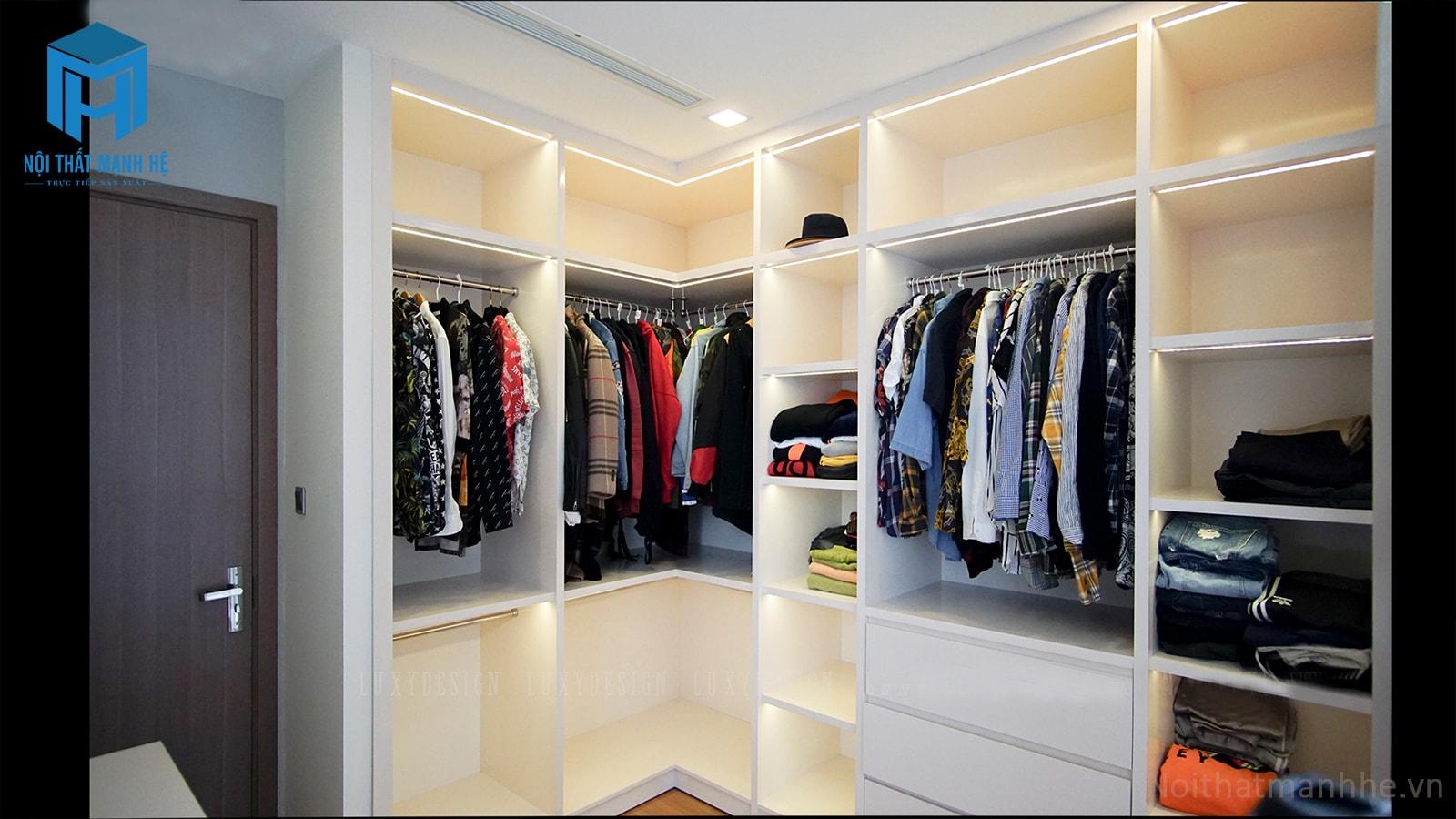 tủ quần áo nhiều ngăn