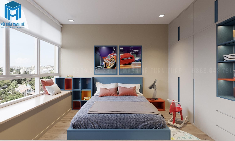mẫu nội thất phòng bé trai