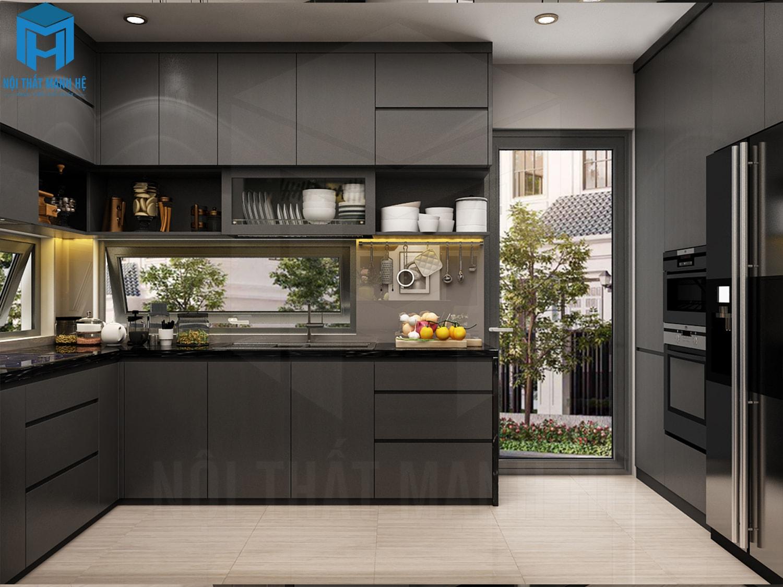 tủ bếp hiện đại 2018