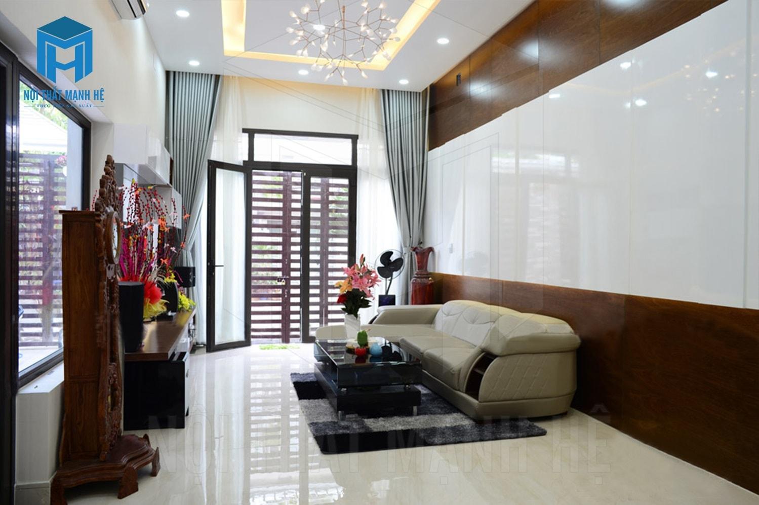 Phòng khách với phong cách hiện đại