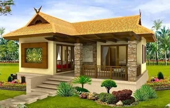 mẫu màu sơn nhà vàng nâu