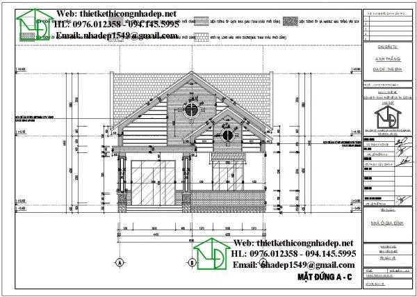 nhận thiết kế nhà cấp 4