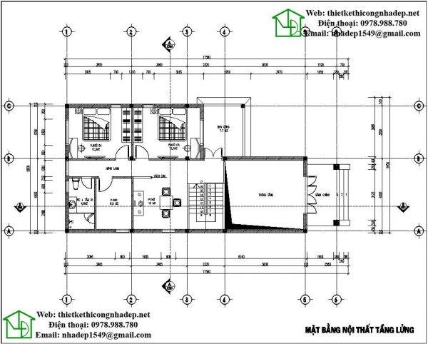 thiết kế nhà cấp 4 160m2