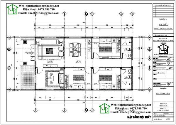 thiết kế nhà cấp 4 đơn giản giá rẻ