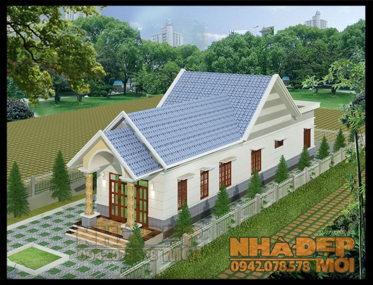 nhà mái thái chữ l