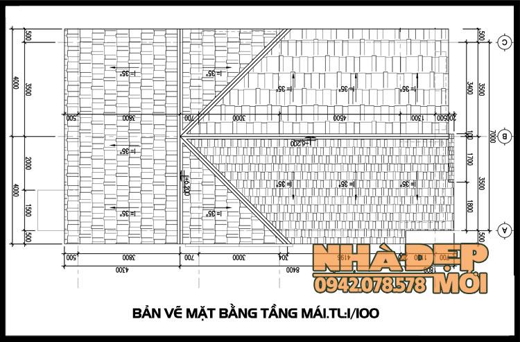 bản vẽ thiết kế nhà cấp 4 mái thái