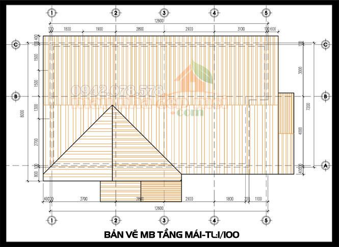 bản vẽ kiến trúc nhà cấp 4 đẹp đơn giản