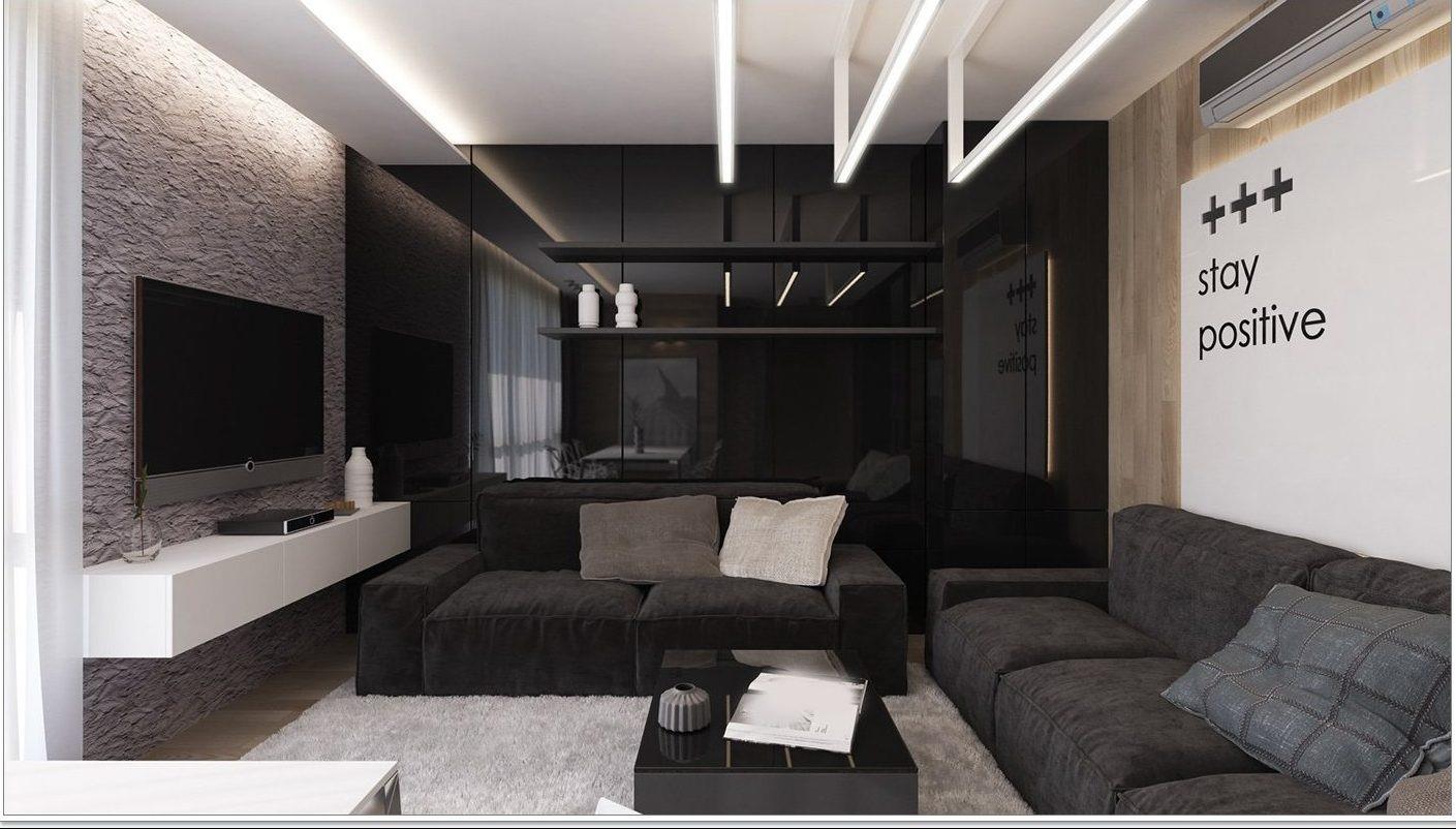 phòng khách màu đen