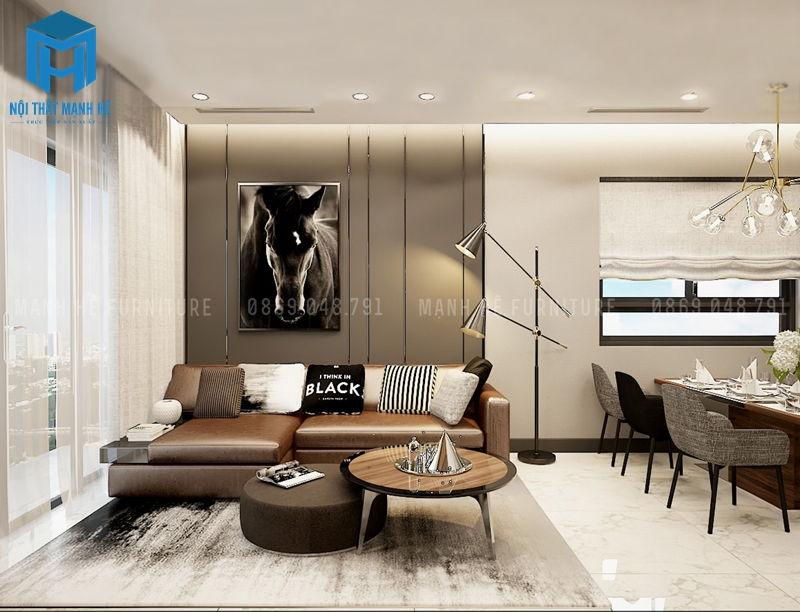 Thiết kế nội thất căn hộ tone xám
